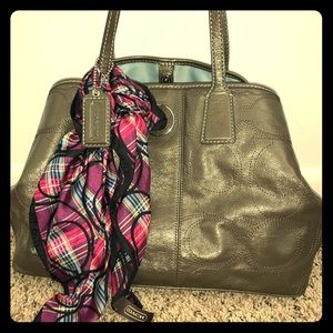 Coach purse and scarf